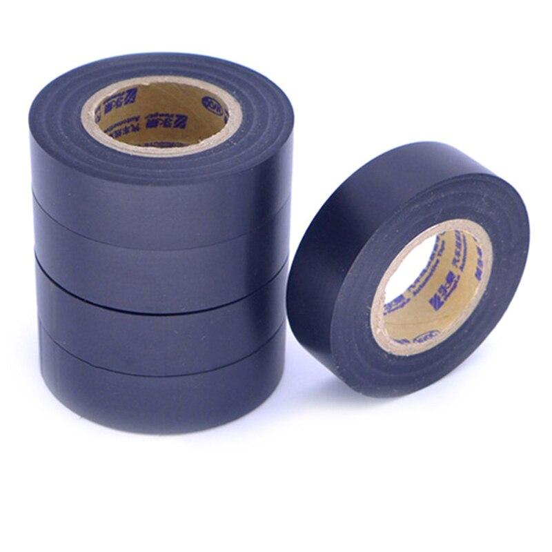 Черные ПВХ 18 мм x 25 м электрические ленты огнеупорная изоляционная клейкая лента самодельные электрические инструменты