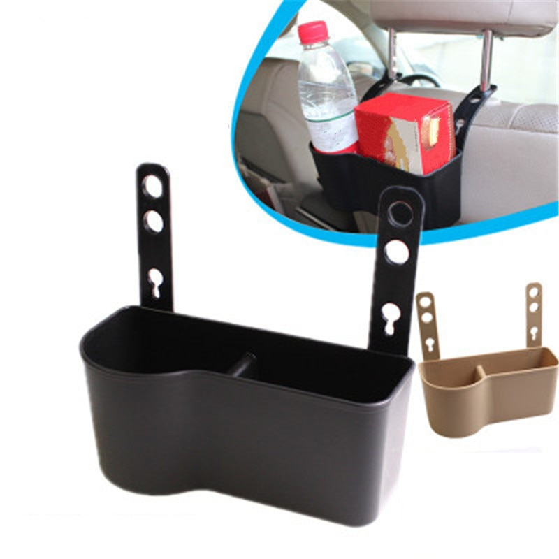 Double Storage Design Car Drink Storage Holder Boxes Hanging Vehicle Rear Seat Back Beverage Cup Bracket Auto Ornaments Supplies