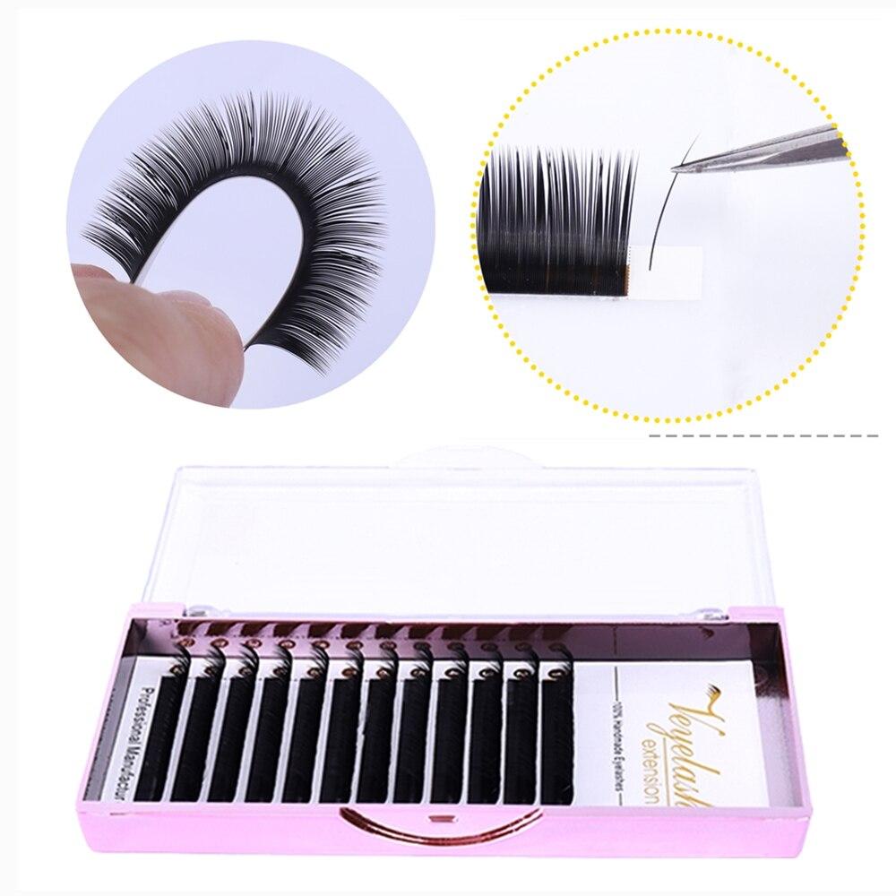 Mezcla 7 ~ 15 mm 16 líneas sable postizas naturales mate extensión de pestañas negras venta al por mayor extensiones de pestañas para maquillaje