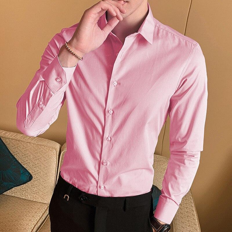 Camisa masculina primavera otoño nuevo gordo gran tamaño 8XL hombres de negocios casual de manga larga ropa con forro libre caliente antiarrugas