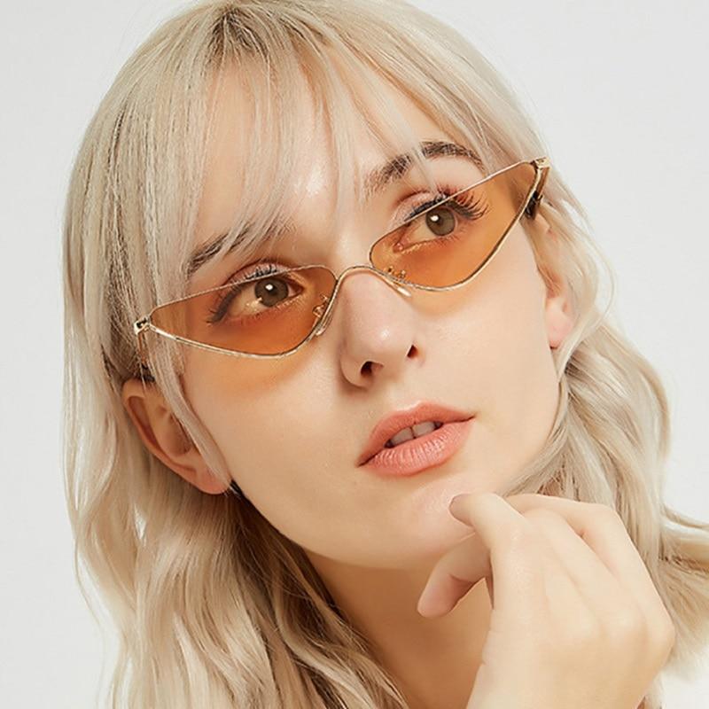 Hip Hop Cat Eye Shades Sunglasses Women Men Glasses Vintage Retro Luxury Lunette Oculos 2021 Brand G