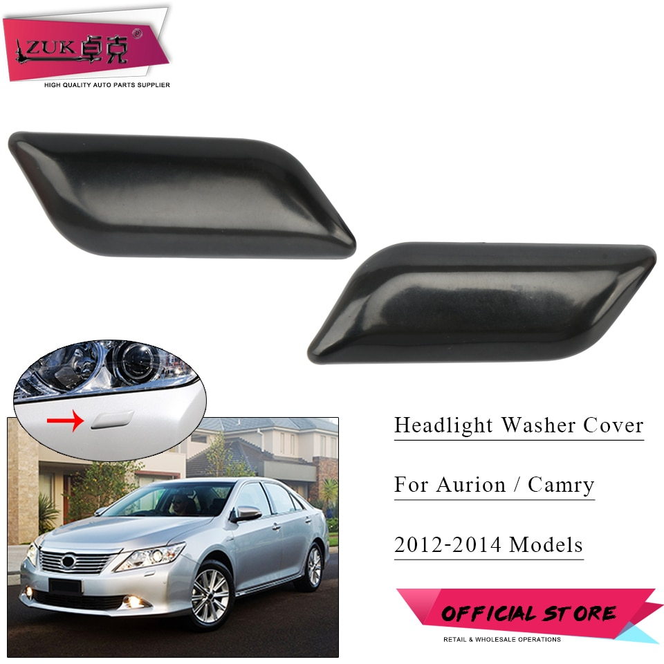 ZUK For TOYOTA CAMRY AURION 2012 2013 2014 Front Headlight Headlamp Washer Nozzle Cover Cap None Painted 85045-06020 85044-06020
