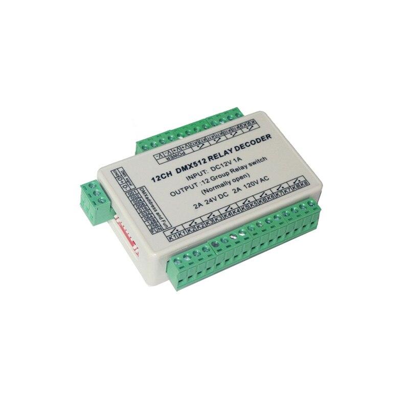 12CH DMX 512 تتابع LED تحكم 12 قناة إخراج فك التبديل DMX-RELAY-12CH