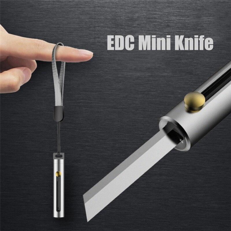 EDC multipropósito cuchillo camping llavero con herramientas multiherramienta bolsillo Carta al aire libre pare pelador de alta calidad