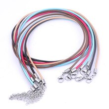 5pcs 55cm Long 2.0mm Leathed Cord Rope Necklace Chain For Jewelry Making Diy Charm Pendant Accessori