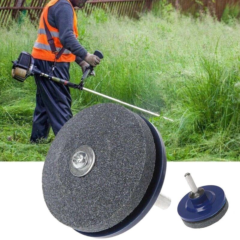 Hoja de afilador de cortacésped para taladro manual eléctrico, cuchillo de piedra para afilar césped y jardín, cuchilla de Mover, herramienta de molienda #1 #1 #1
