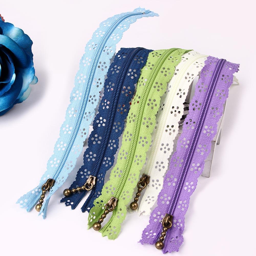 10 pçs/lote Zíperes Rendas 20cm Comprimento Colorido Nylon Bobina Zippers Alfaiate Costura Artesanato DIY Acessórios de Vestuário