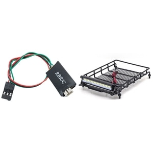 Winch Control Cable Winch 4CH Control Line with Metal Luggage Carrier Tray Roof Rack with LED Light Accessories