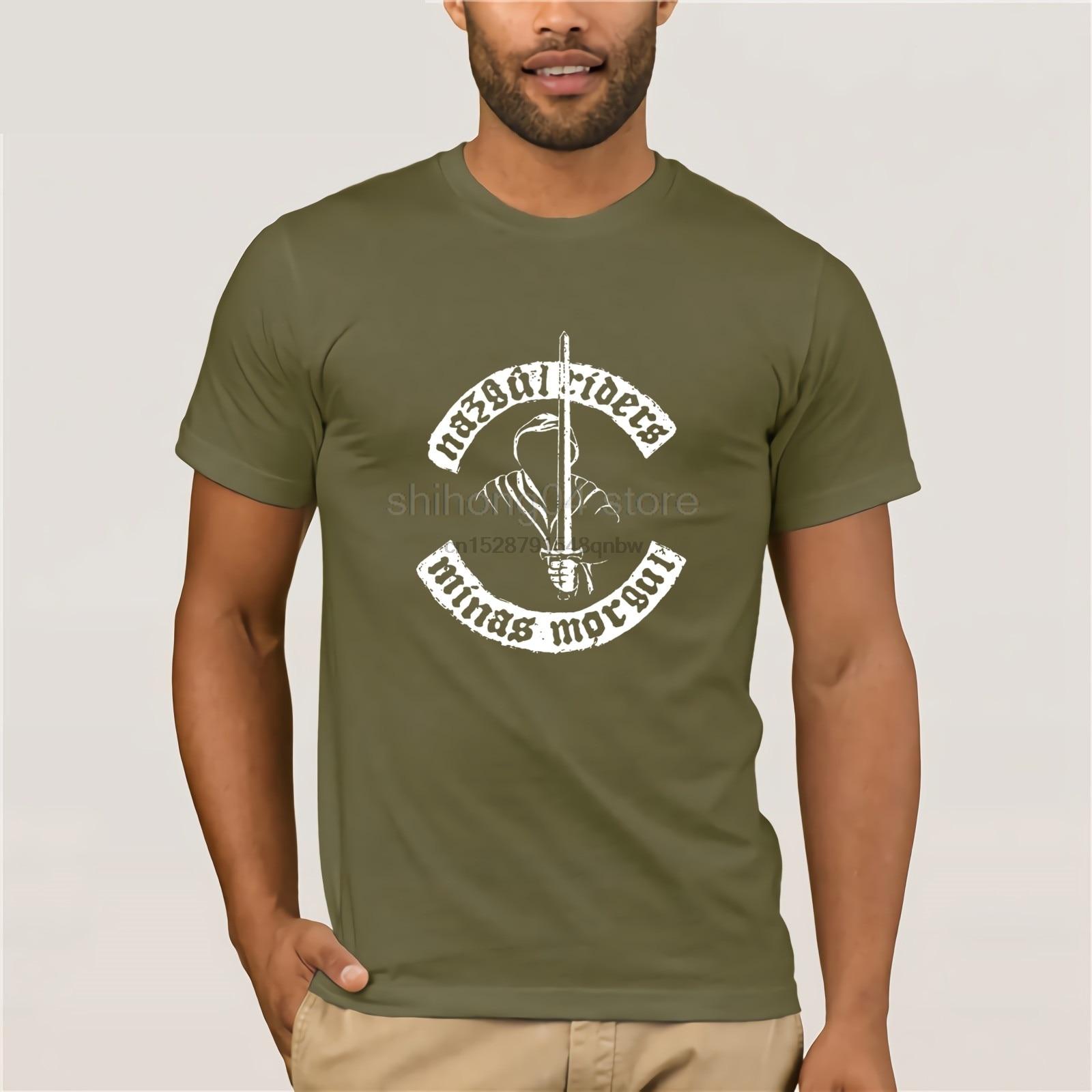Camiseta de Sauron Nazgul camiseta de jinetes manga corta 6xl camiseta 100 algodón Streetwear impresionante gráfico masculino camiseta