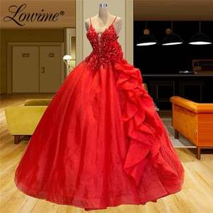 Red Prom Dresses Vestidos Formales Plus Size Couture A Line Party Gowns 2021 Arabic Long Evening Dress Celebrity Dresses Robes