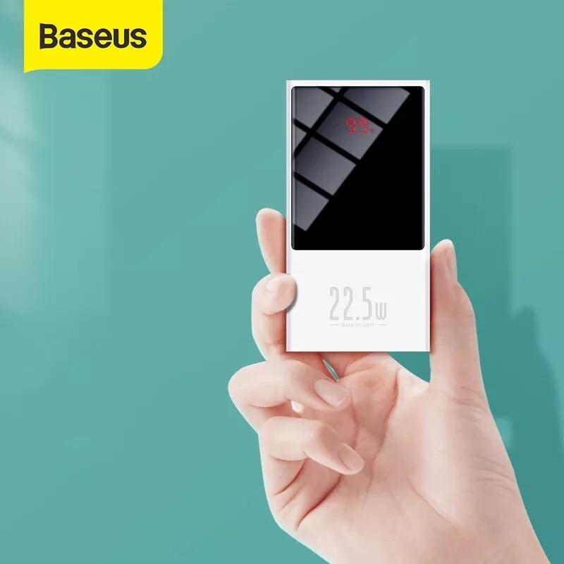 Baseus-باور بانك صغير محمول 10000 مللي أمبير ، بطارية خارجية سريعة الشحن لأجهزة iPhone و Xiaomi