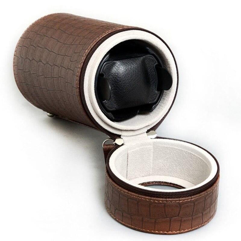 Luksusowy zegarek Winder Mover Box skóra 2 tryby automatyczny zegarek Rotator uzwojenie Box mechaniczny zegarek akcesoria Remontoir