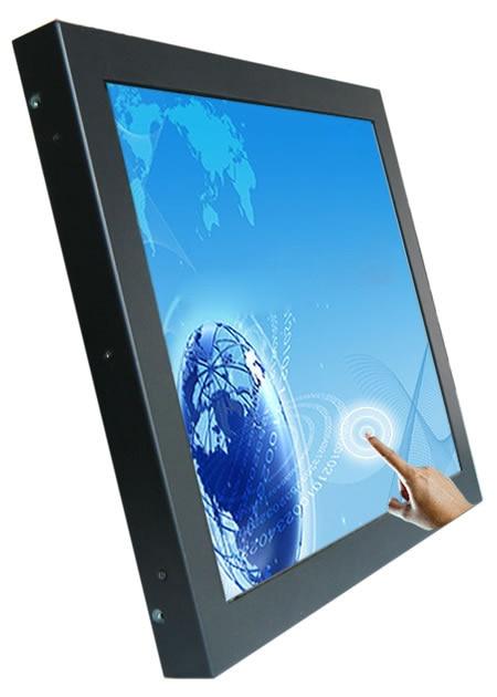 حافظة معدنية 19 بوصة شاشة تعمل باللمس بالسعة إطار صناعي مفتوح شاشات كريستال بلورية