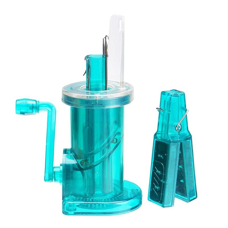 ¡Producto en oferta! Máquina de cuerda vibratoria para hacer punto a mano, máquina de tejer a mano, bobinadora de lana, pulsera artesanal, herramienta para tejer en sentido de las agujas del reloj, Verde