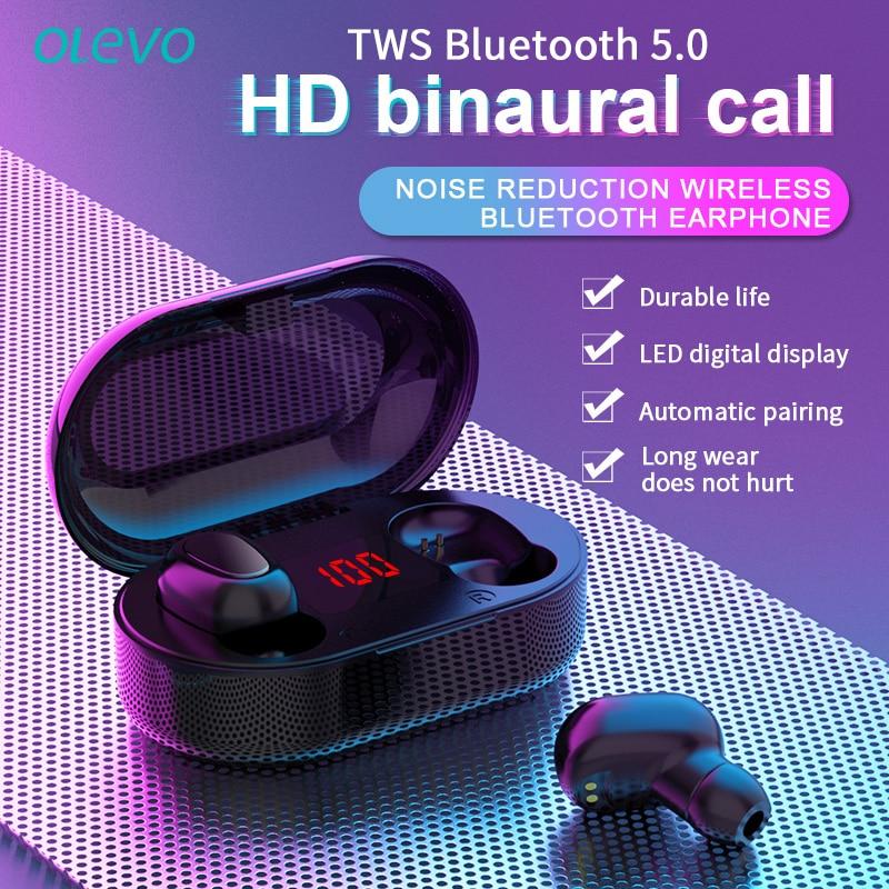 Auriculares tws con bluetooth, dispositivo de oído audifonos inalámbrico, hifi, pantalla Led, micrófono, llamada HD