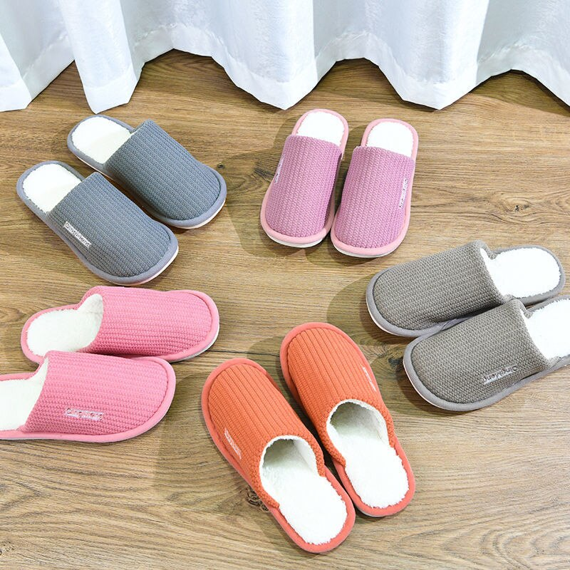 Winter Warm Slippers for Woman Shoes Soft Plush Indoor Home Furry Slippers Woman Warm Shoes For Bedroom Couple Winter Slippers 2019 winter women home slippers family couple warm plush slippers indoor household woman shoes bedroom unisex comfortable soft