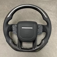 leather customized carbon fiber steering wheel for range rover sport 2014 2015 2016 2017 2018 car styling