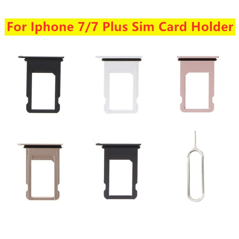 Tray Holder Replacement Nano SIM Card With Tray Eject Pin For Apple iPhone 7 7 Plus Card Adapter Slot
