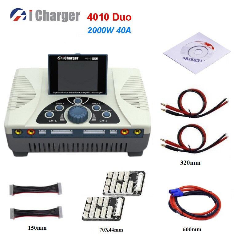 Icharge 4010 Duo 2000 واط 40A تيار مستمر بطارية مزدوجة شاحن ميزان