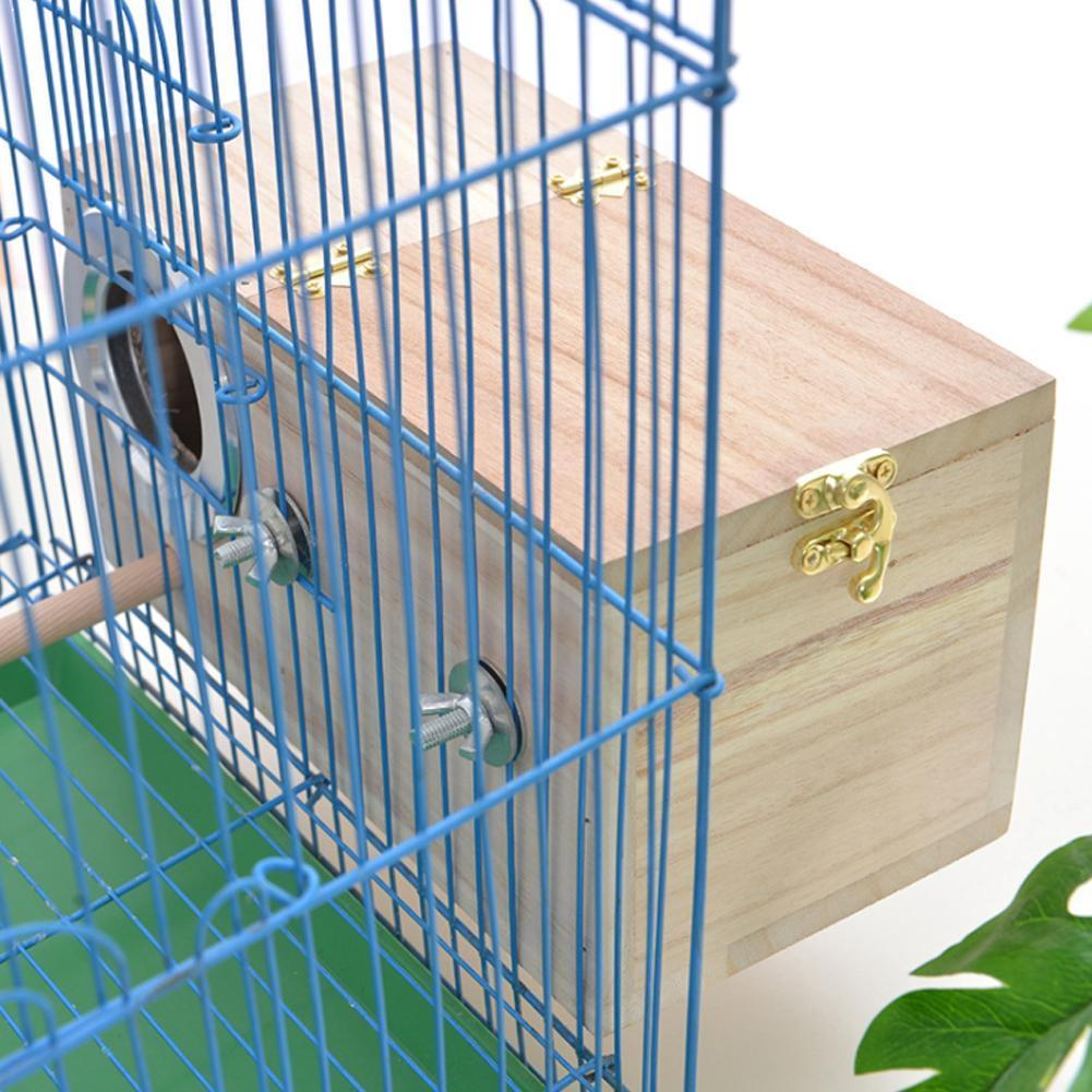 Pet Bird Wooden House Parakeet Nest Box Bird House Box Parrotlets Wood For Lovebirds Breeding Mating