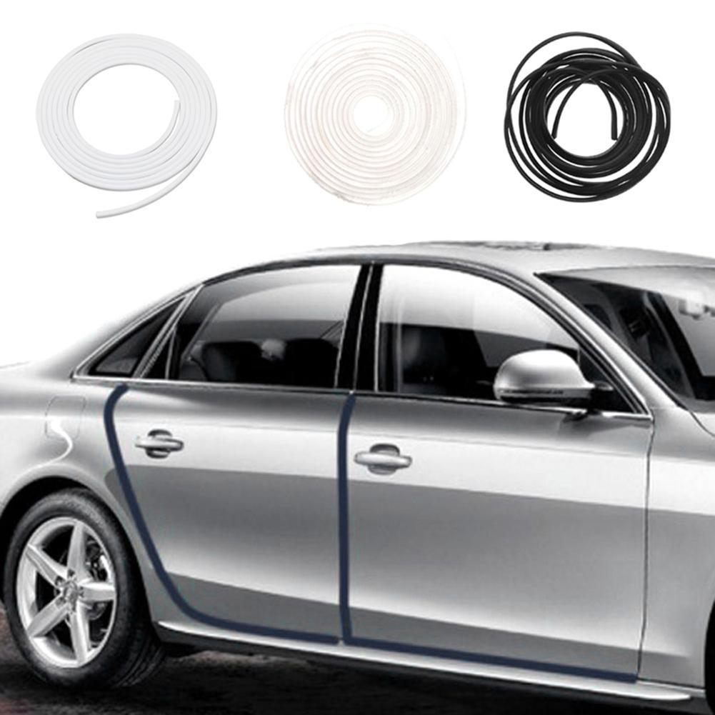 Borde de puerta Universal para coche, Protector de goma para arañazos 5M, tira de moldeado, tiras de protección, sellado, Anti-frotamiento, estilismo para coche DIY