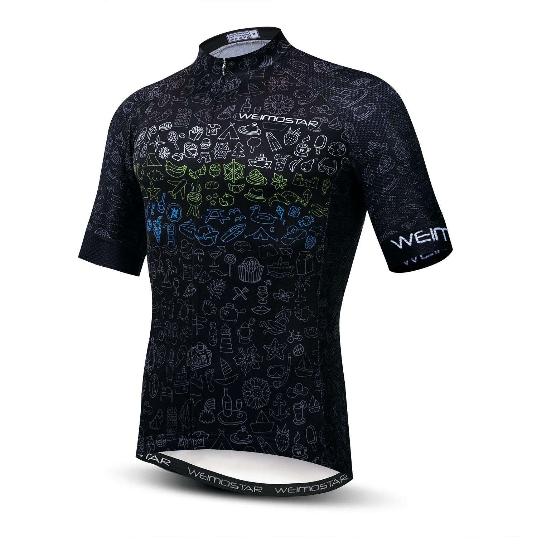 Weimostar-Camiseta de ciclismo para hombre, camisa Jersey de manga corta con cuello...