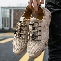 new men casual shoes breathable lightweight mens shoes mesh loafers fashion outdoor sneakers comfortable driving shoes 38 46