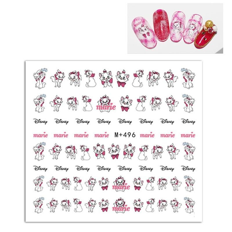 Детские Мультяшные наклейки на ногти Disney Marie Cat, милые аниме-фигурки аристокотов, наклейки, аксессуары, украшения, игрушки для девочек «сдела...