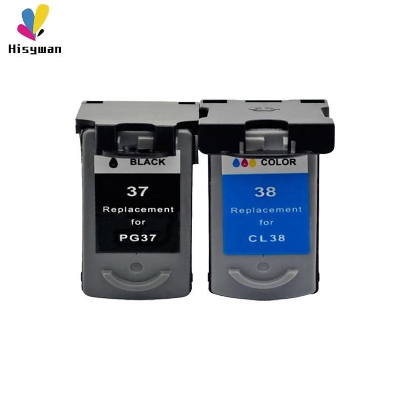 Hisywan PG37 CL38 чернильный картридж для Canon PG 37 CL 38 PIXMA MP140 MP190 M210 MP220 MP420 IP1800 IP2600 MX300 MX310 принтер
