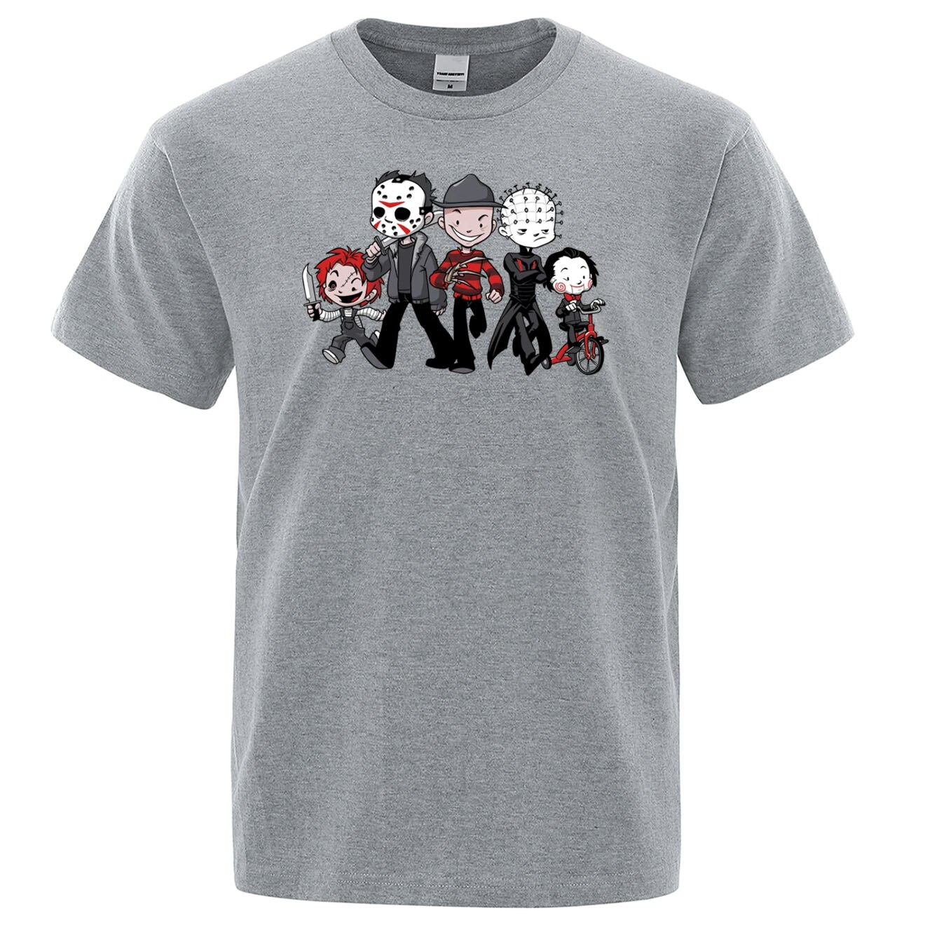 Zomer Katoen Korte Mouw T Shirt Maniac Park Horror Film Thema Park Jason Clown Saw Halloween Grappig Artsy mannen Tops Tees