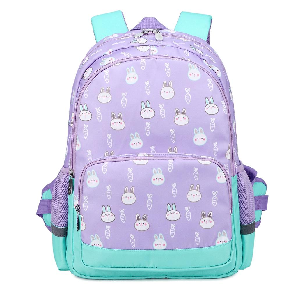 Mochilas infantiles impermeables, mochila antirrobo para escuela, para niñas, estudiantes, mochila escolar mediana, mochila azul púrpura, mochila para libros grandes