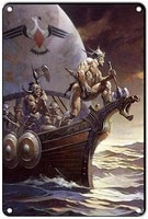 viking retro metal tin signs movies decorative items for home for vintage decor 8x12 inches