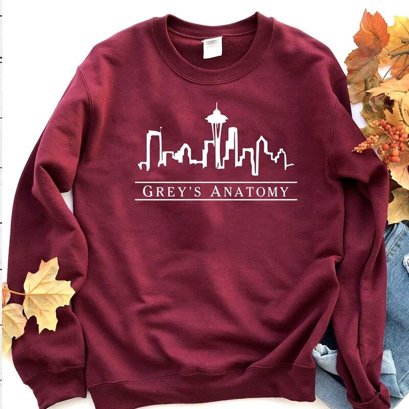 Sudadera anatómica gris para mujer moda Streetwear Save Lives suéter chica Funny TV Shows estético jerseys Dropshipping