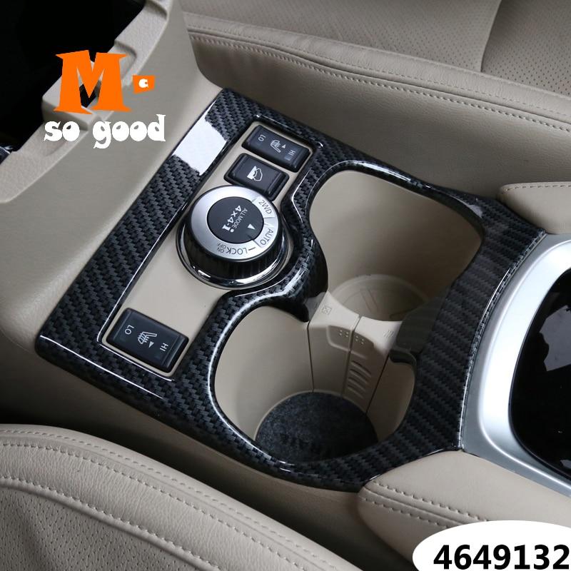 2014/15/16/17/18 para NISSAN x-trail XTrail T32 Rogue soporte para vaso de agua para coche cubierta ABS fibra de carbono accesorios de Interior de coche