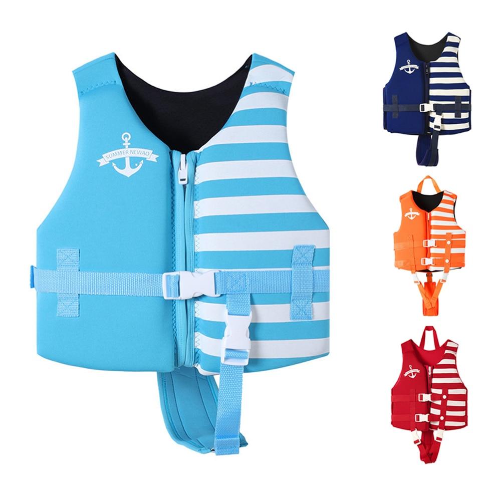 Спасательные жилеты для мальчиков и девочек, профессиональный жилет с Плавучестью, теплые спасательные жилеты для подводного плавания, сер...