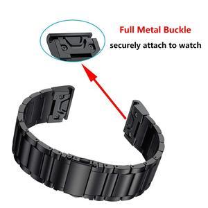 26mm quick fit release band for Garmin Fenix 6X 5X 3 3HR stainless steel Man bracelet strap for Fenix 5X PLUS easyfit wrist band