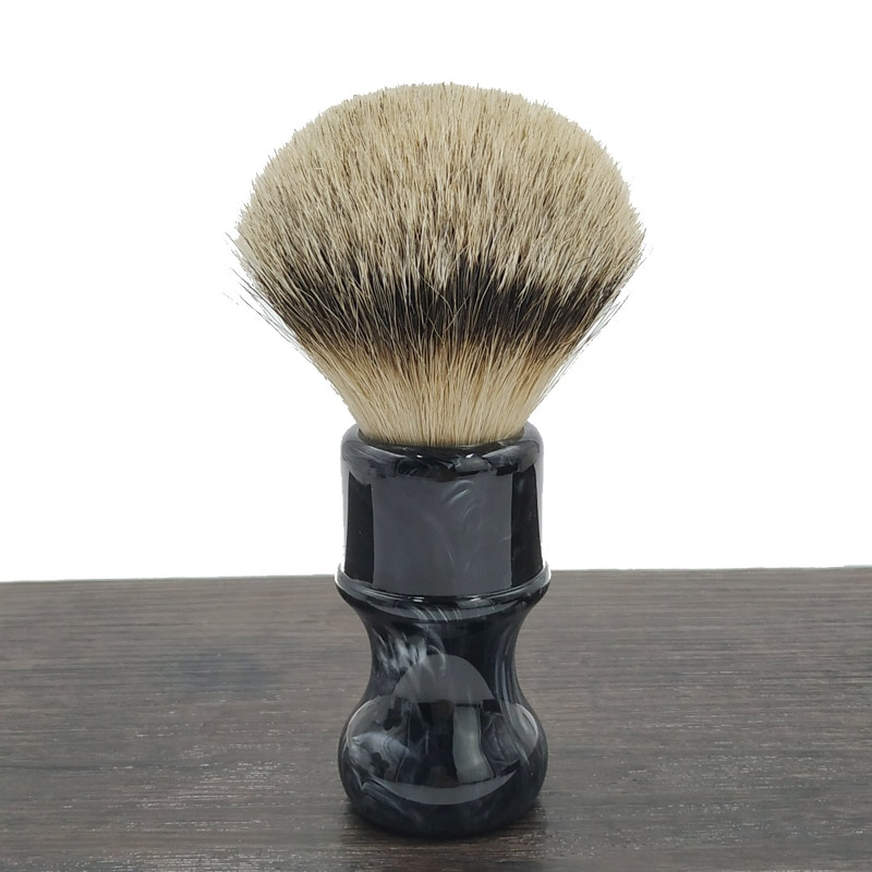 Dscosmetic Obsidian resin handle 24mm super badger hair  knots shaving brush