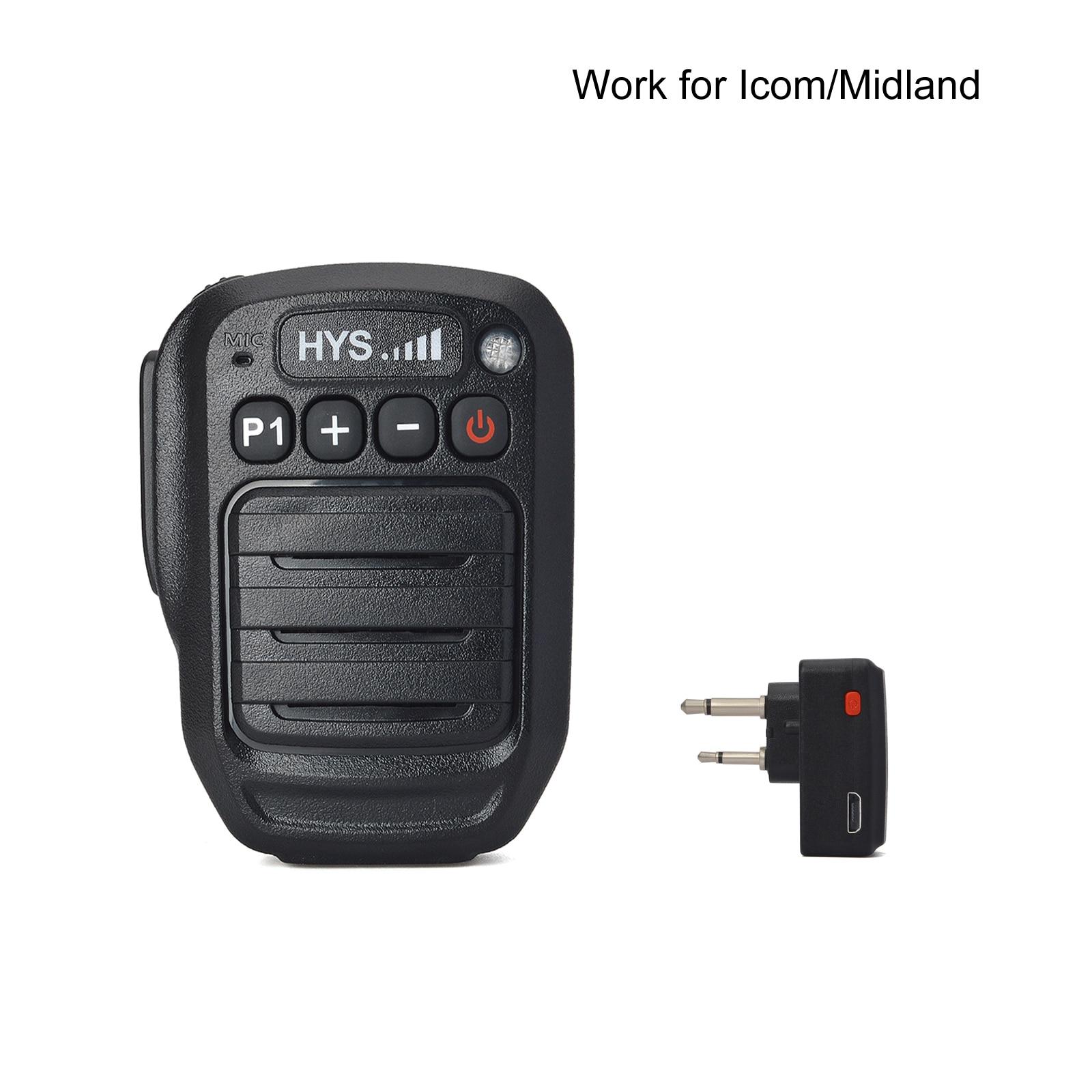 HYS بلوتوث اللاسلكية يده كتف رئيس ميكروفون للماء ل ميدلاند LXT80 LXT110 ICOM IC-F4 F20 هام 2 راديو الطريق