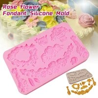 rose frame sugar craft chocolate mould tool fondant cake vintage mold silicone mold for baking pastry and bakery accessories