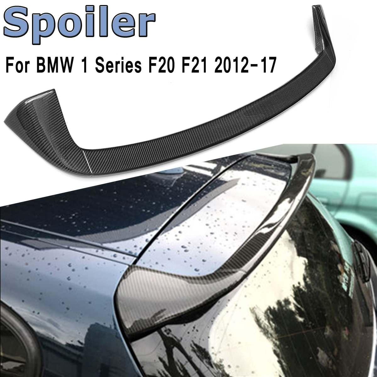 Real Carbon Fiber FRP Glossy Rear Roof Windshield Spoiler Lip Wing For BMW F20 F20LCI F21 118i 120i 125i 135i 2012-2017