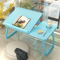 new adjustable foldable desk shelf dormitory bed laptop stand book reading laptop studying table with cup holder