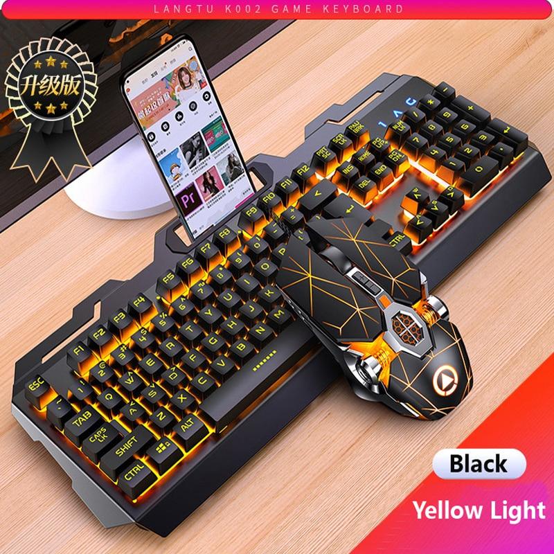 لوحة مفاتيح ألعاب ميكانيكية بإضاءة خلفية RGB LED ، ماوس ، USB ، للكمبيوتر الشخصي والكمبيوتر المحمول