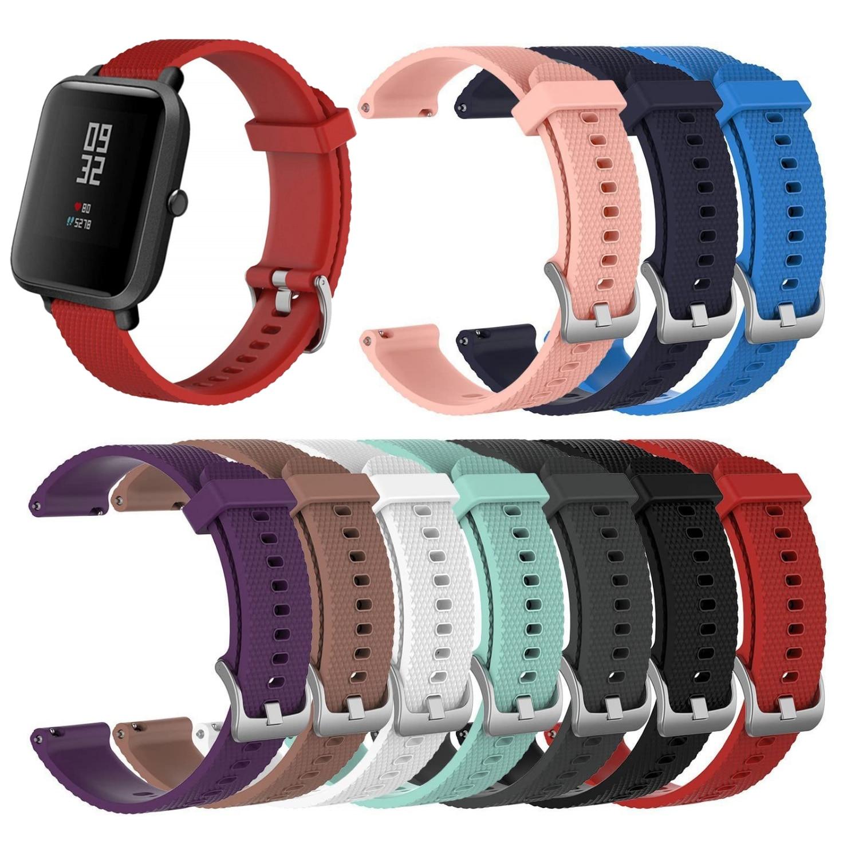 20mm Silicone Soft Strap For Xiaomi Huami Amazfit Bip Strap Youth Smart Watch Strap Wrist Bracelet For Amazfit Bip Bracelet