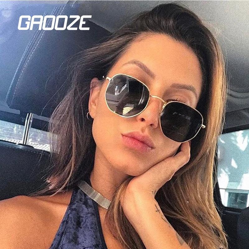 GAOOZE Sunglasses Women Square Glasses Female Sun Glasses Vintage Women Sunglasses Anti-glare Classi