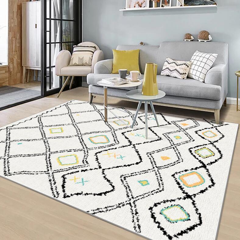 المغربي سجادة غرفة معيشة المنزل Rugs السجاد لغرفة النوم الأمريكية السجاد أريكة طاولة القهوة البساط غرفة الدراسة هندسية الكلمة حصيرة