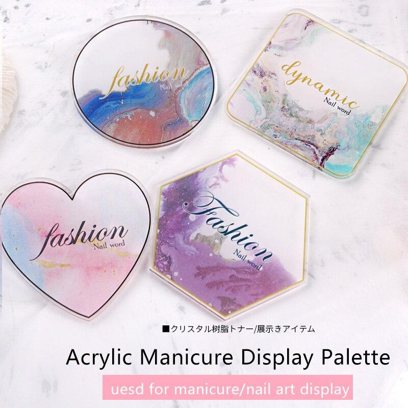 TSZS 1 unids/lote, paleta de uñas con diseño de mármol acrílico japonés, herramientas de arte, pantalla de uñas, proveedor de bandejas de pintura de Gel para uñas