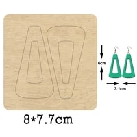 sexy triangle big hoop earrings cutting wooden mold hollow large loop earring wood dies for diy leather cloth paper crafts 2020