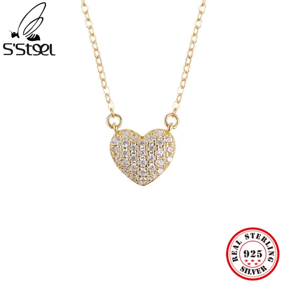 s'steel-925-стерлингового-серебра-кулоны-и-ожерелья-подарок-для-женщин-золотые-дизайнерские-Циркон-личности-в-форме-сердца-хорошее-ювелирное-и