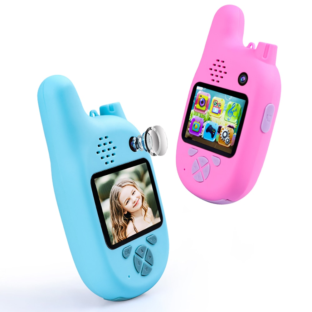 Hot 1080P Children Walkie Talkie with VCR,Mp3 Video Recorder Photo 8Million Pixels Smart Digital Cam