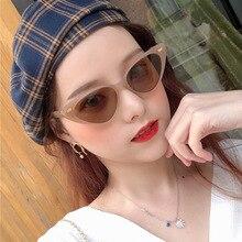 Cute Cat Eye Sunglasses Women Fashion Korean Style Small Triangle Decorative Sun Glasses For Girls F